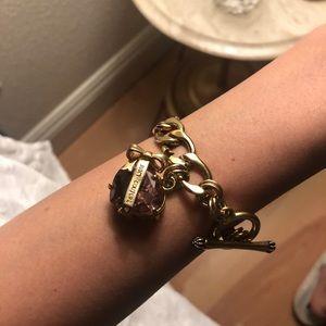 Juicy couture gold chain bracelet